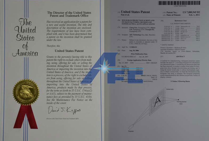 patent of invention USA